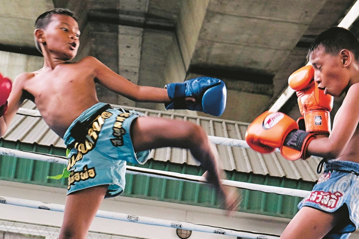 Muay Thai Training with Boxing in Thailand and Advertise